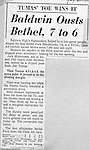 Bethel Park PA:  Opening night for Section 2 Western Conference Football. QB Scott Streiner broke his collarbone on the first play and was out 6 weeks.  Mike Stewart stepped in and played QB and the Blackhawks came up one point short.
