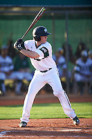 Chicago State Cougars second baseman Matt Sullivan (26) at bat during a game against the Georgetown Hoyas on March 3, 2017 at North Charlotte Regional Park in Port Charlotte, Florida.  Georgetown defeated Chicago State 11-0.  (Mike Janes/Four Seam Images)