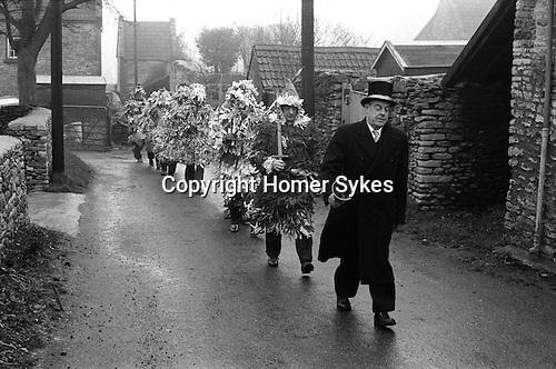 Marshfield Mummers, Boxing Day. Marshfield, Gloucestershire, England 1973