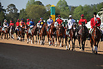 10 April 2010: Pre race parade before  the 74th running of the Arkansas Derby at Oaklawn in Hot Springs, Arkansas