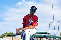 Billings Mustangs Reniel Ozuna (23) before a Pioneer League game against the Grand Junction Rockies at Dehler Park on August 15, 2019 in Billings, Montana. Billings defeated Grand Junction 11-2. (Zachary Lucy/Four Seam Images)