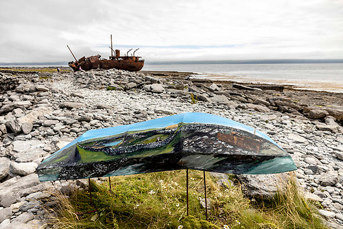 Pat Quinn's work for the Curracha exhibition Photo: Colm Coyne