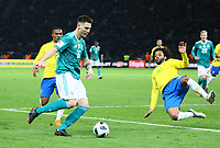 Niklas Süle (Deutschland Germany) gegen Marcelo (Brasilien Brasilia) - 27.03.2018: Deutschland vs. Brasilien, Olympiastadion Berlin