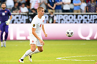 KANSAS CITY, KS - JULY 18: Liam Fraser #8 of Canada during a game between Canada and USMNT at Children's Mercy Park on July 18, 2021 in Kansas City, Kansas.