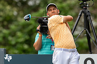 30th May 2021; Fort Worth, Texas, USA;  Sergio Garcia hits his tee shot on #9 during the final round of the Charles Schwab Challenge on May 30, 2021 at Colonial Country Club in Fort Worth, TX.