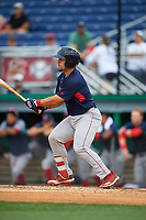 Lowell Spinners Elih Marrero (5) bats during a NY-Penn League game against the Batavia Muckdogs on July 11, 2019 at Dwyer Stadium in Batavia, New York.  Batavia defeated Lowell 5-2.  (Mike Janes/Four Seam Images)