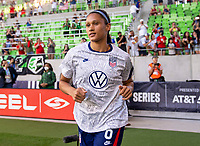 AUSTIN, TX - JUNE 16: Lynn Williams #6 of the USWNT enters the field before a game between Nigeria and USWNT at Q2 Stadium on June 16, 2021 in Austin, Texas.