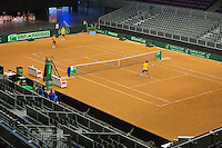 September 10, 2014,Netherlands, Amsterdam, Ziggo Dome, Davis Cup Netherlands-Croatia, Training Dutch team,<br /> Photo: Tennisimages/Henk Koster