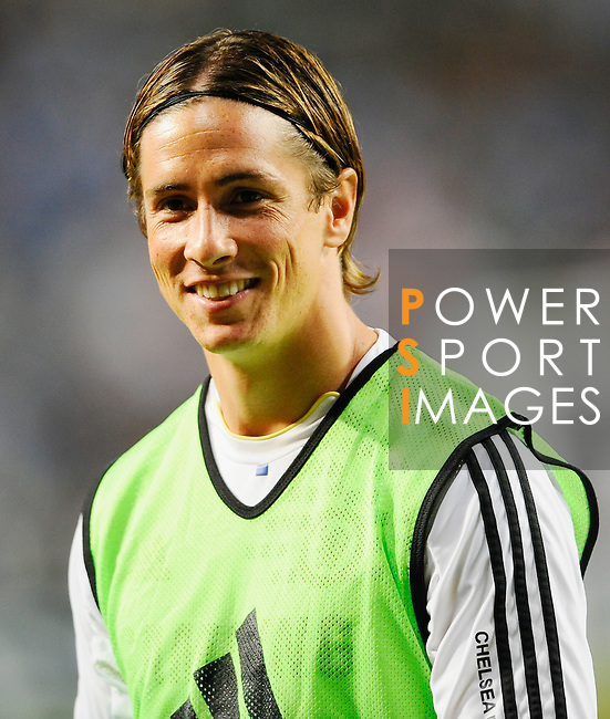 SO KON PO, HONG KONG - JULY 30: Fernanto Torres of Chelsea smiles before the Asia Trophy Final match against Aston Villa at the Hong Kong Stadium on July 30, 2011 in So Kon Po, Hong Kong.  Photo by Victor Fraile / The Power of Sport Images