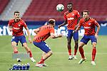 Atletico de Madrid's Alvaro Garcia, Hector Herrera, Thomas Partey and Santiago Arias training before La Liga match. July 3,2020. (ALTERPHOTOS/Acero)
