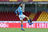 Lorenzo Insigne of SSC Napoli celebrates after scoring a goal<br /> during the Serie A football match between Benevento Calcio and SSC Napoli at stadio Ciro Vigorito in Benevento (Italy), October 25th, 2020. <br /> Photo Cesare Purini / Insidefoto