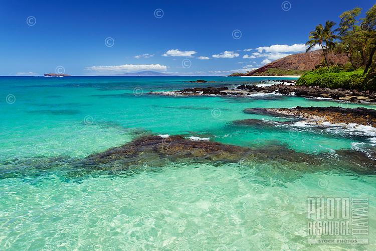 The clear waters of Secret Beach, Makena, Maui.