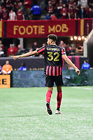 ATLANTA, GA - MARCH 07: ATLANTA, GA - MARCH 07: Atlanta United defender George Campbell directs team mates during the match against FC Cincinnati, which Atlanta won, 2-1, in front of a crowd of 69,301 at Mercedes-Benz Stadium during a game between FC Cincinnati and Atlanta United FC at Mercedes-Benz Stadium on March 07, 2020 in Atlanta, Georgia.