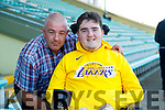 Ian O'Connell with his dad Michael after the Kerry County Intermediate Hurling Championship Final match between Dr Crokes and Tralee Parnell's at Austin Stack Park in Tralee