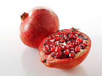Fresh cut Pomegranite