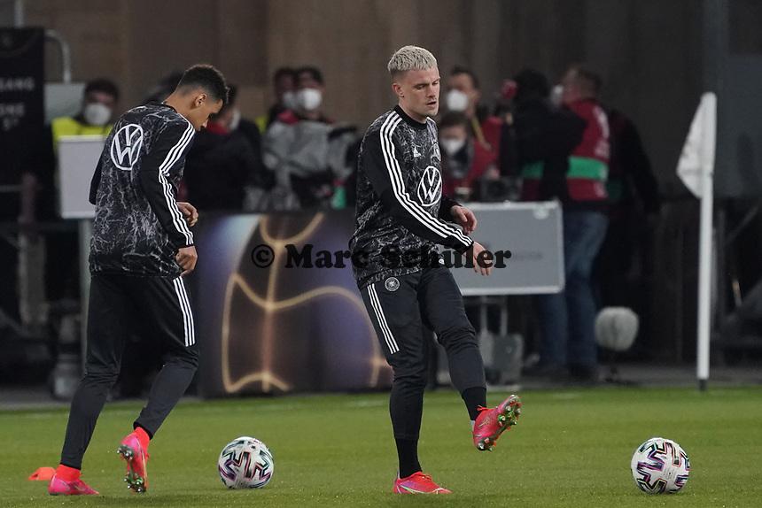 Philipp Max (Deutschland Germany), Jamal Musiala (Deutschland Germany) - 25.03.2021: WM-Qualifikationsspiel Deutschland gegen Island, Schauinsland Arena Duisburg