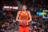 VALENCIA, SPAIN - NOVEMBER 22: Guillem Vives during Endesa League match between Valencia Basket Club and Retabet.es GBC at Fonteta Stadium on November 22, 2015 in Valencia, Spain