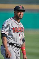 Anthony Garcia (10) of the Nashville Sounds before the game against the Salt Lake Bees at Smith's Ballpark on July 28, 2018 in Salt Lake City, Utah. The Bees defeated the Sounds 11-6. (Stephen Smith/Four Seam Images)