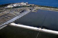Large salt mine at Salin-de-Giraud, Camargue, France.
