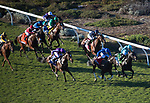 DEL MAR, CA - NOVEMBER 04: The field comes off the turn during the Longines Breeders' Cup Turf on Day 2 of the 2017 Breeders' Cup World Championships at Del Mar Thoroughbred Club on November 4, 2017 in Del Mar, California. (Photo by Ting Shen/Eclipse Sportswire/Breeders Cup)