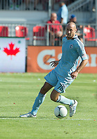 August 18, 2012: Sporting KC defender Aurelien Collin #78 in action during an MLS game between Toronto FC and Sporting Kansas City at BMO Field in Toronto, Ontario Canada..Sporting Kansas City won 1-0.