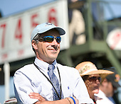 James Piper, assistant to trainer Doug Fout, wore his owner's cap in Nashville, as his Call You In Ten wins the George Sloan Maiden.
