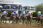May 15, 2021 : Chub Wagon, #5, ridden by jockey Irad Ortiz Jr., wins the Runhappy Skipat Stakes on Preakness Stakes Day at Pimlico Race Track in Baltimore, Maryland on May 15, 2021. Wendy Wooley/Eclipse Sportswire/CSM