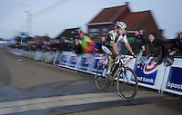 Niels Albert (BEL) crossing the finish line<br /> <br /> GP Sven Nys 2014
