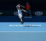 Andy Murray (GBR) wins at Australian Open in Melbourne Australia on 19th January 2013