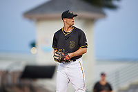 Bradenton Marauders relief pitcher Jess Amedee (31) gets ready to deliver a pitch during a game against the Dunedin Blue Jays on May 2, 2018 at LECOM Park in Bradenton, Florida.  Bradenton defeated Dunedin 6-3.  (Mike Janes/Four Seam Images)