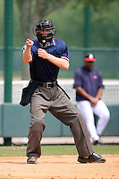 March 22nd 2008:  An unidentified MiLB Umpire during a Spring Training camp day at Disney's Wide World of Sports in Orlando, FL.  Photo by:  Mike Janes/Four Seam Images
