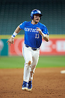 Kole Cottam (13) of the Kentucky Wildcats hustles towards third base against the Louisiana Ragin' Cajuns in game seven of the 2018 Shriners Hospitals for Children College Classic at Minute Maid Park on March 4, 2018 in Houston, Texas.  The Wildcats defeated the Ragin' Cajuns 10-4. (Brian Westerholt/Four Seam Images)