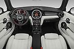Stock photo of straight dashboard view of 2016 MINI Cooper - 2 Door Convertible Dashboard