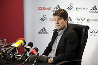 Pictured: Swansea City Manager Michael Laudrup<br /> Swansea City Press Conference, 07/03/13, ahead of their league match against West Bromitch Albion on Saturday. Liberty Stadium, Swansea.