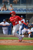 Palm Beach Cardinals Alexis Wilson (26) bats during a Florida State League game against the Charlotte Stone Crabs on April 14, 2019 at Charlotte Sports Park in Port Charlotte, Florida.  Palm Beach defeated Charlotte 5-3.  (Mike Janes/Four Seam Images)