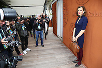 Armelle Lesniak seen at 'Le Village de Roland Garros' during Roland Garros tennis open 2016.