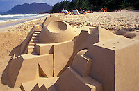 Artistic structure of a sand castle
