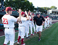 Stanford, California - April 24, 2018: Stanford Baseball defeats Pacific 4-1 at Sunken Diamond in Stanford, California.