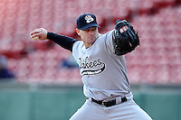 Empire State Yankees pitcher Kevin Whelan #23 during a game against the Buffalo Bisons at Coca-Cola Field on April 12, 2012 in Buffalo, New York.  Empire State defeated Buffalo 7-2.  (Mike Janes/Four Seam Images)