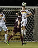 The Winthrop University Eagles played the College of Charleston Cougars at Eagles Field in Rock Hill, SC.  College of Charleston broke the 1-1 tie with a goal in the 88th minute to win 2-1.  Kyle Kennedy (19), Jake Currie (10)