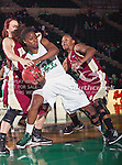 North Texas Mean Green forward Jasmine Godbolt (24) in action during the game between the Denver Pioneer Women and the University of North Texas Mean Green at the North Texas Coliseum,the Super Pit, in Denton, Texas. Denver defeats UNT 50 to 44...