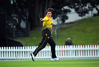 Blaze captain Thamsyn Newton directs her fielders during the women's Hallyburton Johnstone Shield one-day cricket match between the Wellington Blaze and Northern Districts at the Basin Reserve in Wellington, New Zealand on Saturday, 21 November 2020. Photo: Dave Lintott / lintottphoto.co.nz