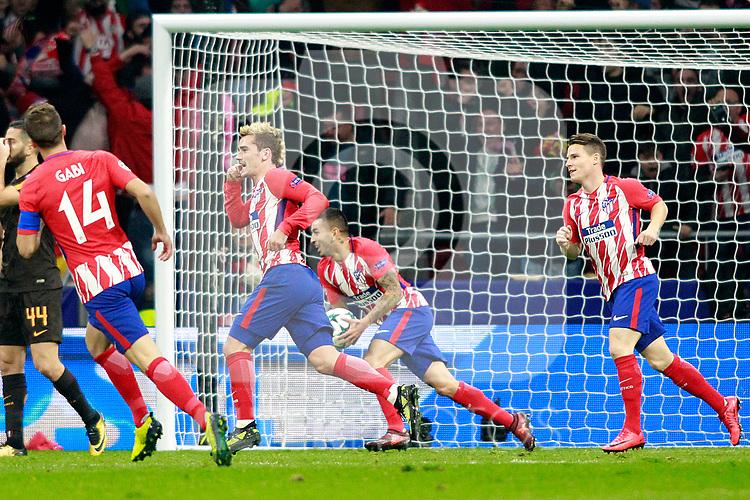 Atletico de Madrid's Gabi Fernandez, Antoine Griezmann, Angel Correa and Kevin Gameiro celebrate goal during Champions League 2017/2018, Group C, match 5. November 22,2017. (ALTERPHOTOS/Acero)