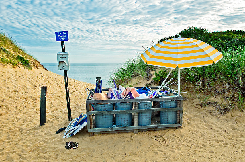 Beach trash, Long Nook Beach, Truro, Cape Cod, MA, USA