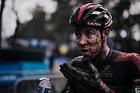 Laurens Sweecks (BEL/Pauwels Sauzen-Bingoal) muddy post race face<br /> <br /> Men's Race at the X2O Herentals Cross 2020 (BEL)<br /> <br /> ©kramon