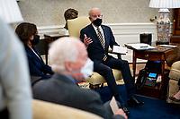 Biden Meets With Senators