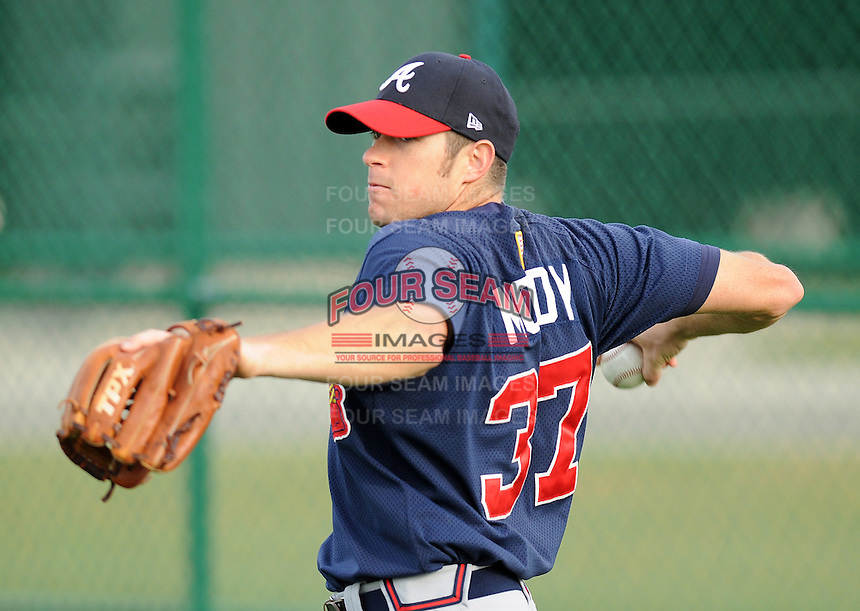 17 March 2009: Shayne Moody of the Atlanta Braves at Spring Training camp at Disney's Wide World of Sports in Lake Buena Vista, Fla. Photo by:  Tom Priddy/Four Seam Images