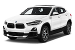 2018 BMW X2 Premiere 5 Door SUV Angular Front stock photos of front three quarter view