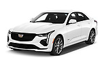 2020 Cadillac CT4-V V-Series 4 Door Sedan Angular Front automotive stock photos of front three quarter view