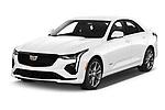2020 Cadillac CT4-V V-Series 4 Door Sedan Angular Front automotive stock photos of front three quarter view